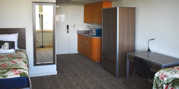 Sprachaufenthalt USA, Hawaii - IIE - Accommodation - Residenz Waikiki Vista - Zimmer