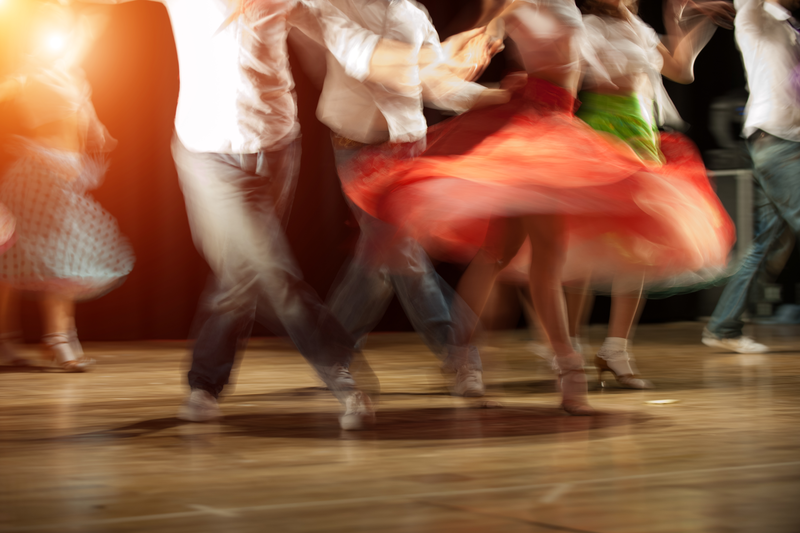 blurred motion picture of dancers