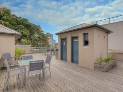 Sprachaufenthalt Australien, Sydney - Langports Sydney - Accommodation - Potts Point Student Apartments - Terrasse