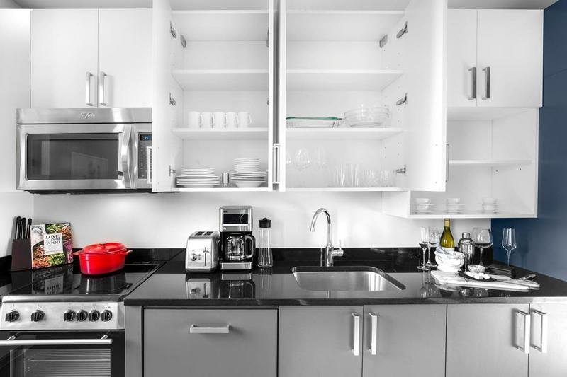Sprachaufenthalt USA, New York - EC - Accommodation - Wall Street Apartments - Küche