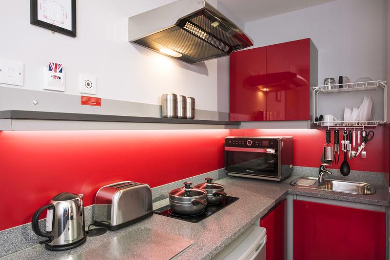 Sprachaufenthalt England, Cambridge - St Giles Cambridge - Accommodation - Study Inn - Küche