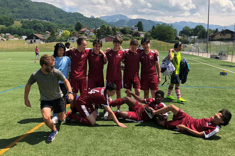 Séjour linguistique Suisse,  Lausanne - Brillantmont - Football