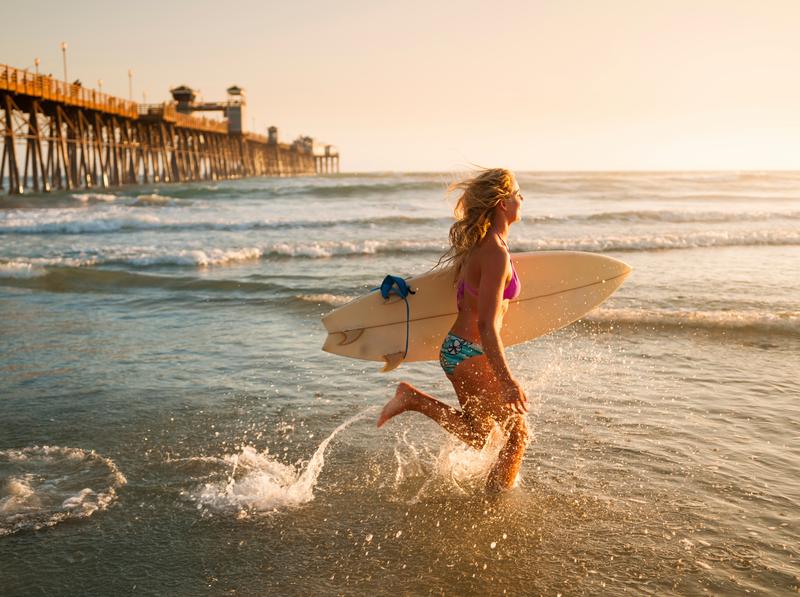 Séjour linguistique États-Unis, Surf